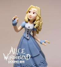 Free shipping 1pcs 9cm ALICE IN WONDERLAND figures toys,ALICE pvc figures for kids Christmas gifts