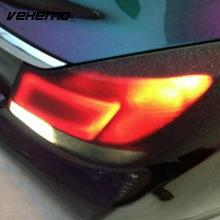 Vehemo Film Car Wrap Sticker 30x60CM Black Decorative Taillight Car Styling Vehicle Decal Trim Fashion(China)