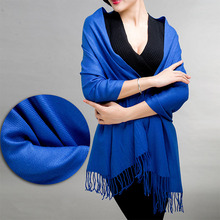 Womens Ladies Hot Sale Long Pashmina Shawl Solid Tassels Warm Soft Autumn Winter Wrap Cashmere Blend Scarves Scarf S1090