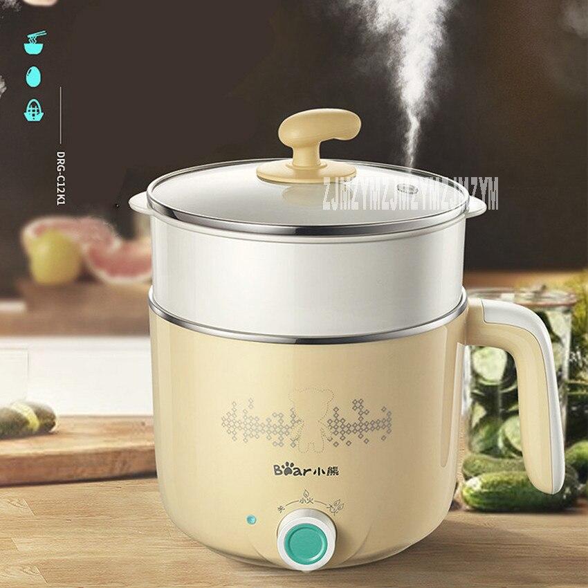 DRG-C12K1 multi-function electric hot pot  electric skillet stainless steel multi cooker houshold mini cooker Portable hot pot<br>
