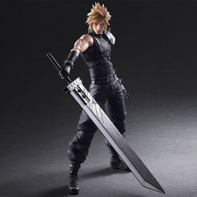 "New 26cm Anime Cloud Strife Final Fantasy VII 7 Advent Figure PVC 10"" Collection Hobby Model Doll Best Gift Cosplay Toy(China)"