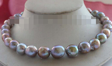 ddh003754genuine Natural 13-15mm Purple Edison Reborn Keshi Pearl Necklace 14KGP 28% Discount