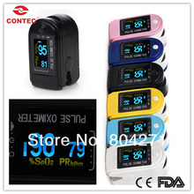 Brand New 2017 CONTEC pulse Oximeter CMS50D 6 colours Free shipping Manufacture OLED(China)
