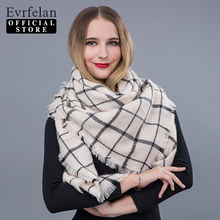 Evrfelan 2017 New Autumn Winter Triangel Warm Scarf Tartan Plaid Blanket Hijab Women Scarves Shawls Bandana Poncho Ladies Scarf(China)