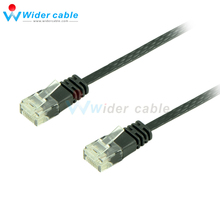 5pieces/lot Flat Cat 6 Network Cable Black Ethernet Cable Cat6 RJ45 M/M Thin High Speed Flat Twisted Pair Internet Lan Cable