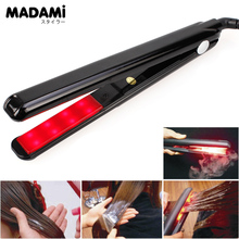 2017 LCD Ultrasonic Infrared Hair Care Cold Iron Keratin Argan Oil Recover Hair Damaged Smoothly Hair Treatment Straightener
