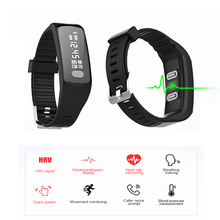Tracker Blood Pressure Fitness Smart Bracelet with ECG HRV Heart Rate Monitor Wristband Step Count Breathing Training Smart Band(China)