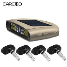 CAREUD T880X Solar power Car TPMS tire pressure monitoring system Wireless LCD Display with 4 sensors and Alarm Function