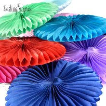 Decorative Wedding Paper Crafts Wedding Decoration Holiday Supplies Paper Fan Wholesale/Retai Tissue Paper Fan Crafts Party 12pc