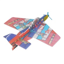 Kids Toys DIY Assembly Flapping Wing Flight For Children Flying Kite Paper Airplane Model Imitate Birds Aircraft(China)