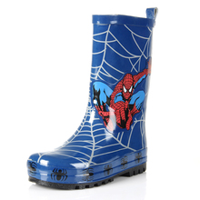 Maggie's Walker Rain Boots Boy And Girls Winter Spiderman Shoes for Boys High Baby Children Kid Rain Boots Water Kid Waterproof