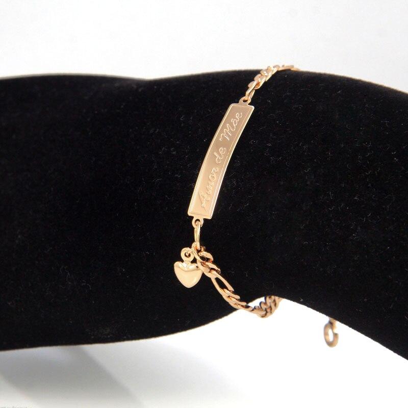Amor de Mae BR18-39_03a baby bracelet kids jewelry bebe pulsera ninas bambino bijoux braclet armband bangle bracelete ouro