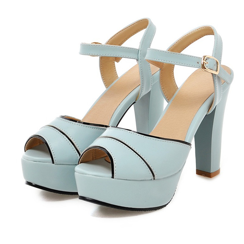 New Summer Erotic Sandals Women 2017 Sexy Peep Toe High Heels Platform Blue Sandals White Stripper Shoes Woman Gladiator Sandles<br><br>Aliexpress