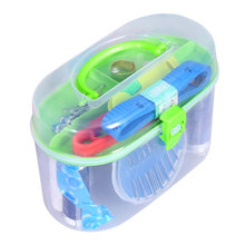 Portable Home Sewing Kit Thread Threader Needle Tape Measure Scissor Thimble Storage Box Case(China)
