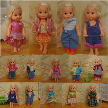 AILAIKI Wholesale Cute Little Kelly Casual Clothing Sets Dresses For Simba Dolls Mixed Styles Mini Dolls Princess Clothes Toy
