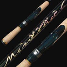 Opsariichthys lure rod Chinese fishing tackle 1.83m UL soft wood handle spinning rod carbon fiber fishing rod(China)