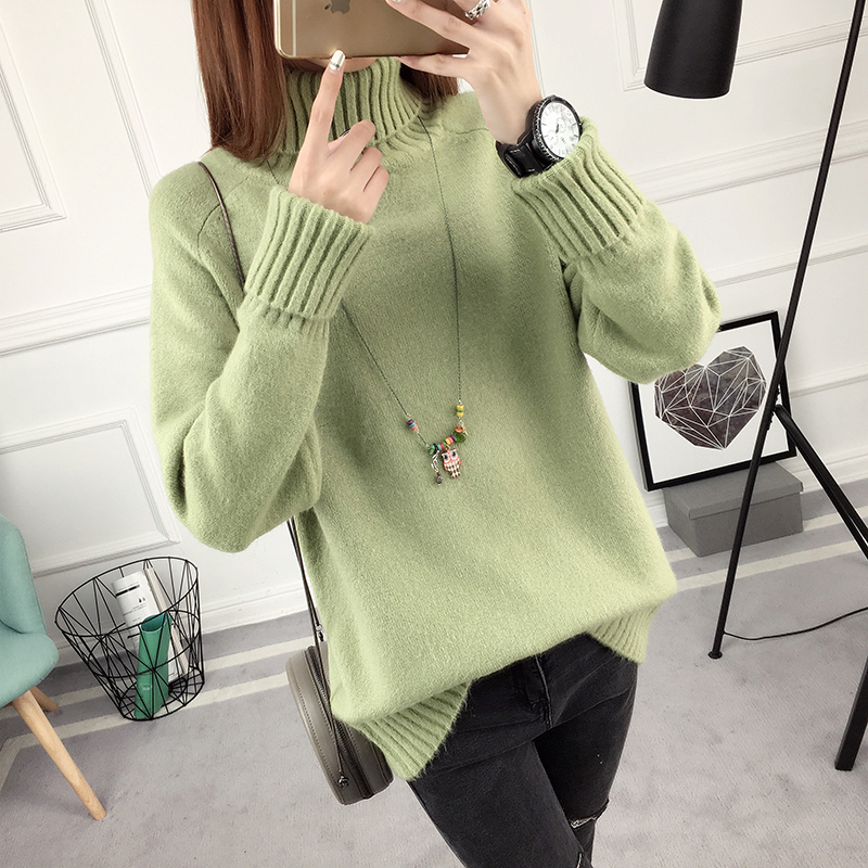 Winter Turtleneck Sweater, Women's 2017 New Design Thick Pullover 22