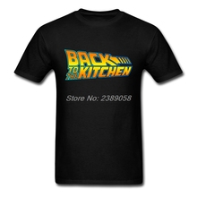 New Brand Mens T Shirt Short Sleeve Back to the Kitchen t-shirt Vintage Hip Hop Man T Shirts Camisetas(China)