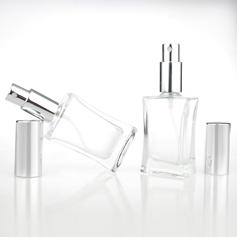 1 Piece 30ML Fashion Portable trranparent  Glass Refillable Perfume Bottle With Aluminum Atomizer Empty Cosmetic Container<br><br>Aliexpress