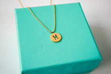 30PCS- Zodiacal Pisces Necklace Zodiac Constellation Necklace Horoscope Astrology Signs Necklace Circle Disc Necklaces(China)