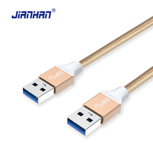 JianHan USB 3.0 Extension Cable 1M USB 3.0 A Type Male to Male Nylon Braided Cables Data Cables For Radiator Laptop Hard Disk(China)