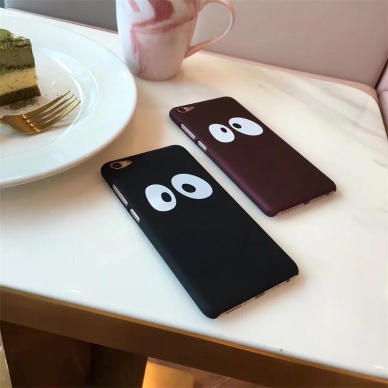 Simple Hard plastic case for iphone 5 5s SE 6 6s 7 plus phone cases cute big eyes PC back cover for iphone 8 plus cases