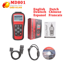 Newest Autel Pro MD801 Maxidiag 4 in 1 Scan Tool MD 801 Scanner(JP701 + EU702 + US703 + FR704) Competitive Price DHL Free