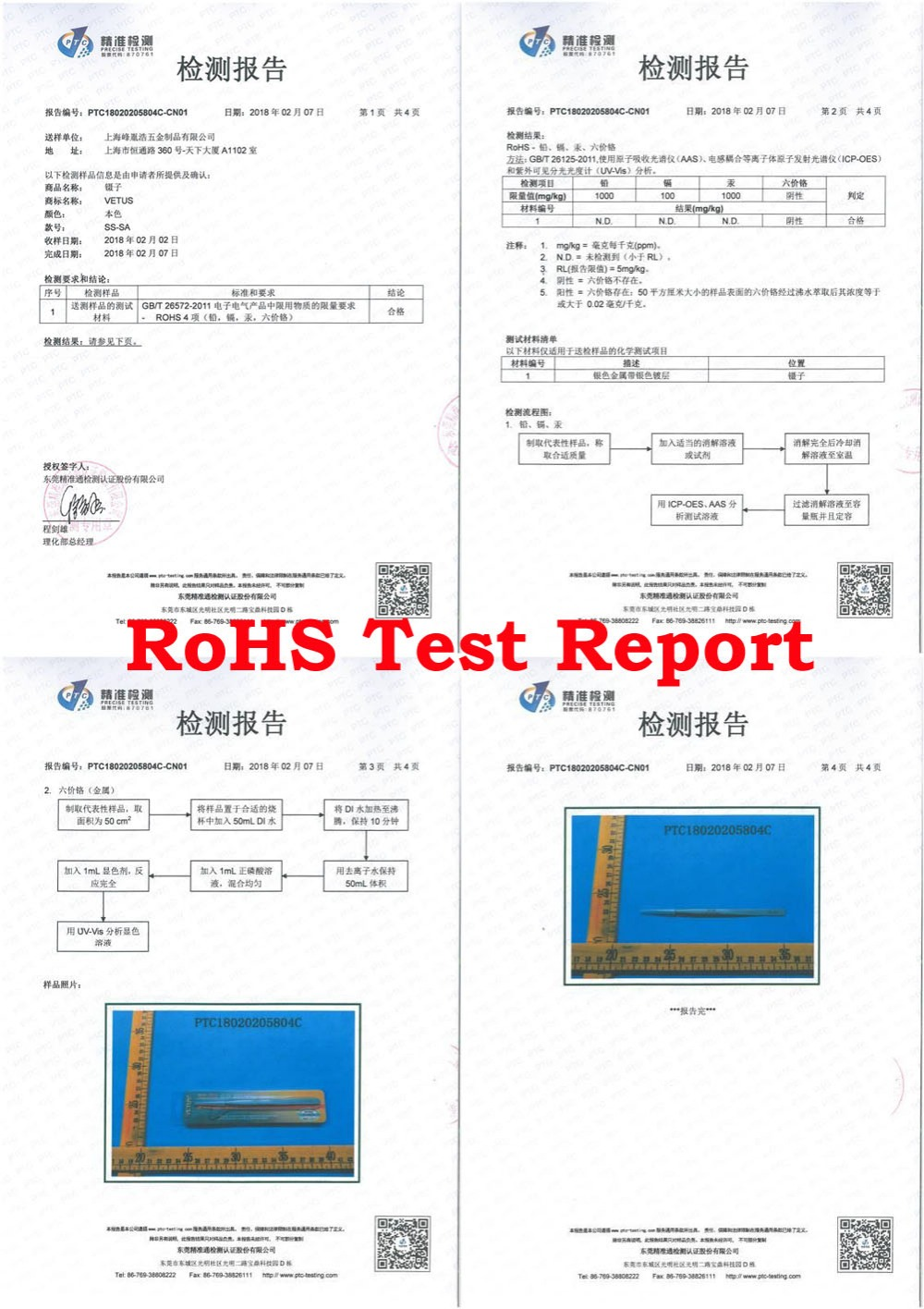 RoHS report