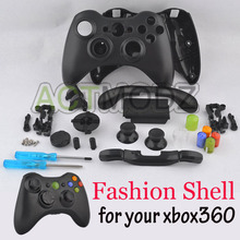 For Xbox 360 Customs Controller Matte Black Shell Case and Rainbow Buttons Parts(China)