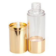 10/15/20ML Cosmetic Vacuum Flask Pump Bottle Gold Cap for Perfume Essence Lotion Bottles Skin Care Tool(China)
