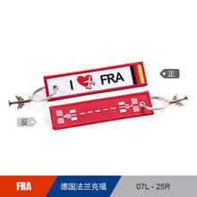 France FRA Frankfurt Airport Luggage Bag Tag Embroider Metal Plane, Gift for Flight Crew Pilot Aviation Lover Travel Accessories(China)