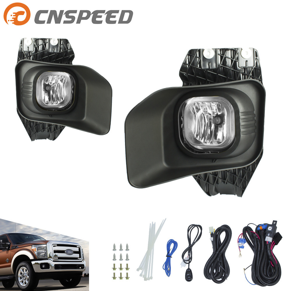 CNSPEED Fog light fit for Ford F250 F350 F450 XLT 2011-2015 fog lamp Clear Yellow Lens Bumper Fog Lights Driving Lamps YC100871<br>