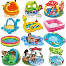 BOHS Bathroom Cartoon Family Center Inflatable Swimming Pool Child Baby Kids Infant Bath Tub(China)