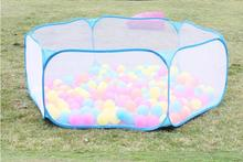 120cm Safety Baby Playpen Kids Portable Square Net Ocean Pit Ball Pool Play Toy Tent(China)