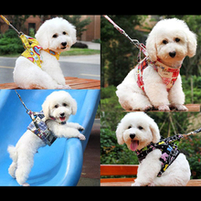 LS4G New 4 Types Practical Canvas Dog Puppy Vest Type Traction Rope Handle Pet Lead Walking Training Tool Free Shipping