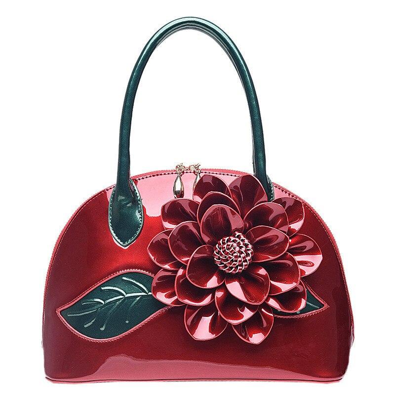 2018 women handbag designer wedding tote women leather handbags bolsas bag flower summer womens pouch<br>