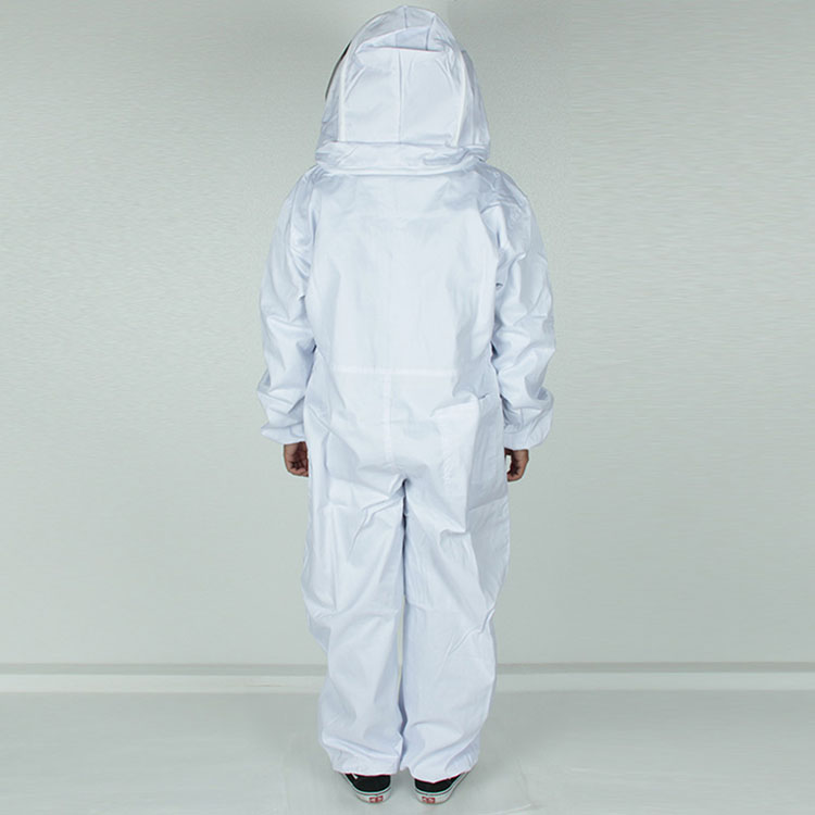 Aolamegs-Apiarist Beekeeping Suit-White-(All-in-One)-Fencing Veil-Total Protection for Professional & Beginner Beekeepers (1)