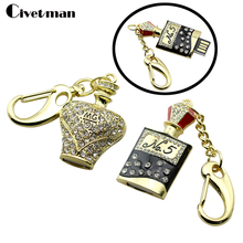 The luxury Crystal French perfume NO.5 model usb 2.0 flash drive 8gb 16 gb 32 gb 64gb pen drive memory stick pendrive u disk