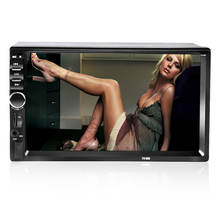 7Inch LCD HD Double DIN Car In-Dash Touch Screen Bluetooth Car Stereo FM MP3 MP5 Radio Player with Wireless Remote Control