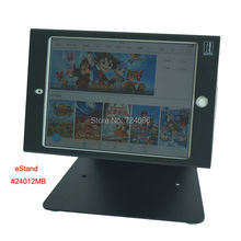 for mini ipad table security stand with anti-theft enclosure display kiosk POS , fix on desktop or countertop hotel or bank