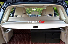 Beige Color Rear Trunk Security Shield Cargo Cover For Ford Everest SUV 4 Door 2015 2016 Car styling