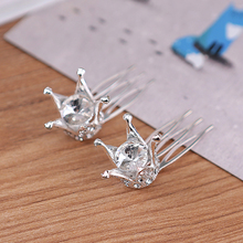 Kids Girls Hair Accessories Crystal Pearl Rhinestone Princess Crown Tiara   Birthday Hair Jewelry Prom Hair clips