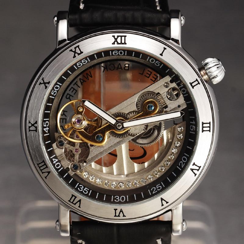 Hot Mechanical Brand Mens Watches Luxury Rhinestone Skeleton Mechanical Watch Men Fashion Sport Clock Case Automatic Wristwatch<br><br>Aliexpress