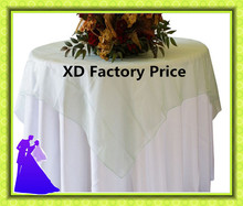 New  arrival crystal organza table overlay for wedding decoration