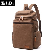 A Sale Computer Backpack Student Canvas Bag Men and Women Type Tourism Functional Bag Factory Direct Sale(China)