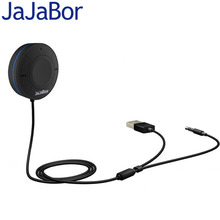 JaJaBor Bluetooth Car Kit Hands-Free Audio Wireless Bluetooth 4.1+EDR Stereo Audio Music Receiver with Mic 3.5mm AUX Input(China)