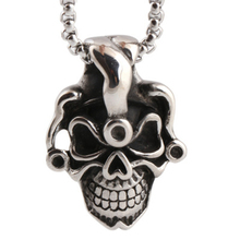 Fvermecky Vintage Steampunk Kito Skull Titanium Steel Necklace For Women Men Link Chain Necklace For Women Men Jewelry ZJBP1126(China)