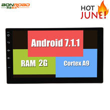 RK3188 Android 7.1.1 New Universal Double 2 Din Car DVD Player Radio GPS Navigation in Dash Stereo Video Car Multimedia Audio FM
