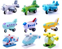 12 pcs/set Cute mini wooden airplane toys for kids,wooden plane,helicopter,warplane,bomber