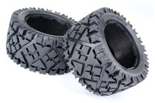 Rear All Terrain Tire X2pcs for HPI Baja 5B, SS, 2.0 Tuning Flux Carbon Fighter Or 95116(China)